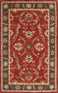 Floral Red Oushak Agra Oriental Area Rug 8x11