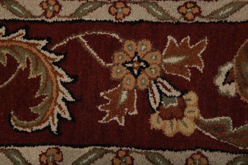 Traditional Floral Agra Oriental Hand-Tufted Black Area Rug Wool 9x12
