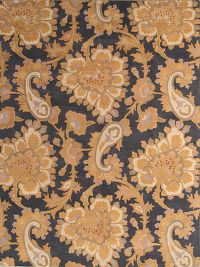 Paisley Floral Hand-Tufted Charcoal/Gold Oriental Area Rug