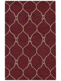 8x11 Red Trellis Oriental Red Area Rug