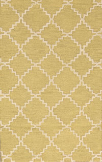 Hand-Tufted Oushak Trellis Indian Oriental Area Rug 5x8
