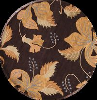 Modern Brown Oushak Indian Oriental Hand-Tufted 8x8 Wool Round Rug