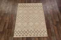 Geometric Moroccan Trellis Beige/Brown 5x8 Wool Area Rug