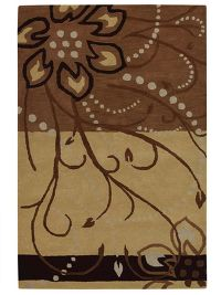 Transitional Floral Oushak Hand-Tufted Oriental 8x11 Wool Area Rug