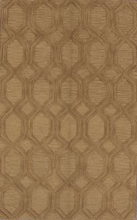 Light Brown Oushak Trellis Oriental Modern Wool Area Rug