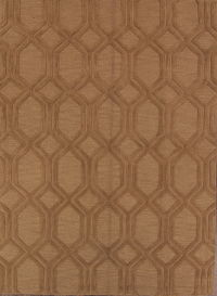 Tortilla Brown Modern Trellis Hand-Tufted Oriental 8x11 Wool Area Rug