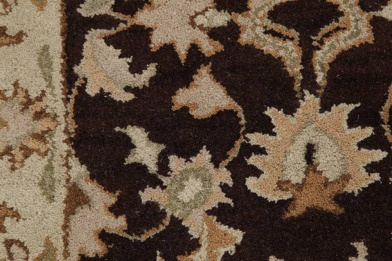 Floral Brown Tabriz Agra Indian Oriental Runner Rug Wool 3x8