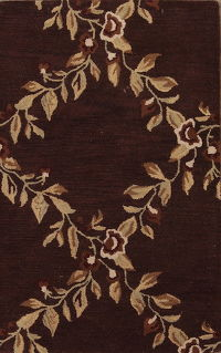 Tropical Floral Oriental Area Rug 3x5