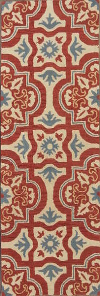 Hand-tufted Transitional Floral  2x8 Indian Oriental Rug Runner