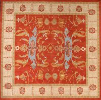 Red Geometric Kazak Oriental Area Rug 8x11