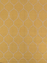Gold Color 8x11 Trellis Oushak Oriental Area Rug
