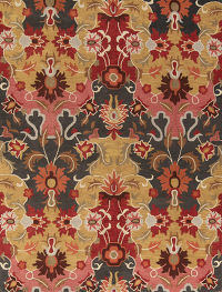 9x12 Transitional Floral Area Rug