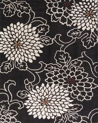 Transitional Floral Oushak Black Oriental Area Rug 10x13