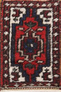 Geometric 1x2 Heriz Indian Oriental Rug