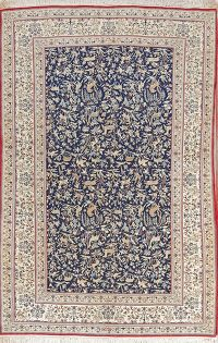 Hunting Design Antique 5x8 Nain Habibian Persian Area Rug