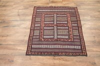 4x4 Sirjan Kerman Persian Area Rug
