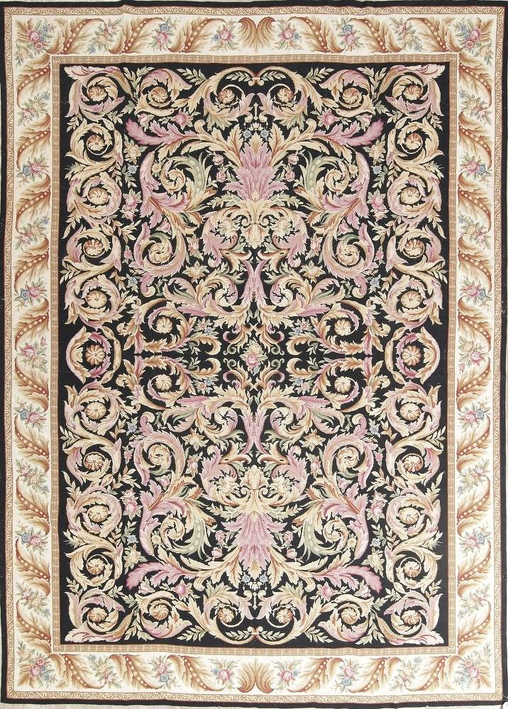 Flat-Woven Aubusson Tapestries Chinese Oriental Area Rug 8x11 image 1