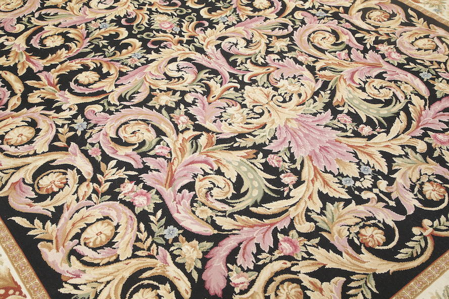Flat-Woven Aubusson Tapestries Chinese Oriental Area Rug 8x11 image 5