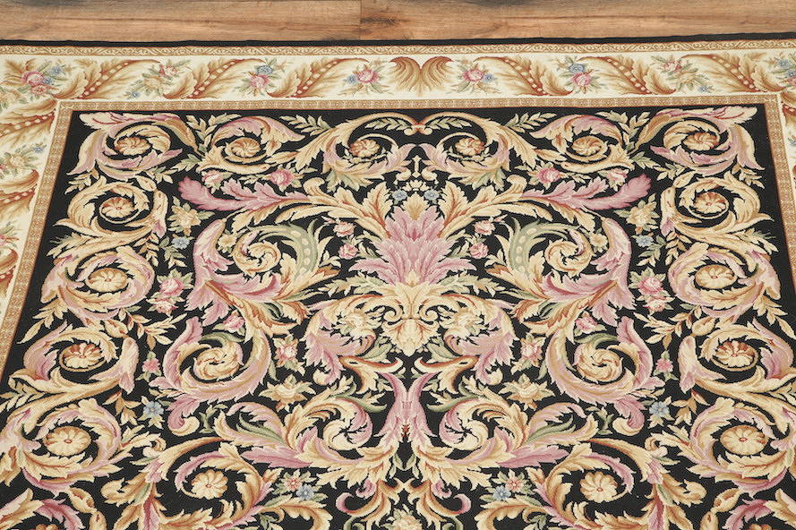 Flat-Woven Aubusson Tapestries Chinese Oriental Area Rug 8x11 image 17