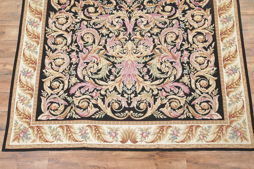 Flat-Woven Aubusson Tapestries Chinese Oriental Area Rug 8x11 image 18
