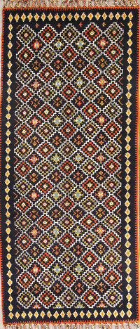 Geometric Tribal Plush  4x32 Moroccan Rug Runner