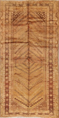 Geometric Ghashghaei Shiraz Persian Hand-Knotted 5x9 Wool Area Rug