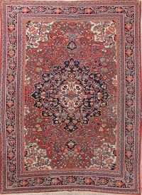 Antique 7x10 Sarouk Farahan Persian Area Rug
