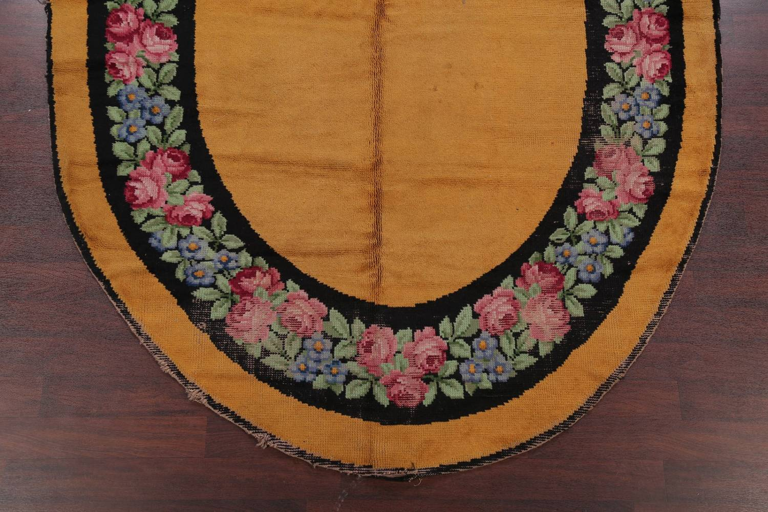 Floral 8x11 Gold Savonnerie French Art Deco Oriental Rug image 5