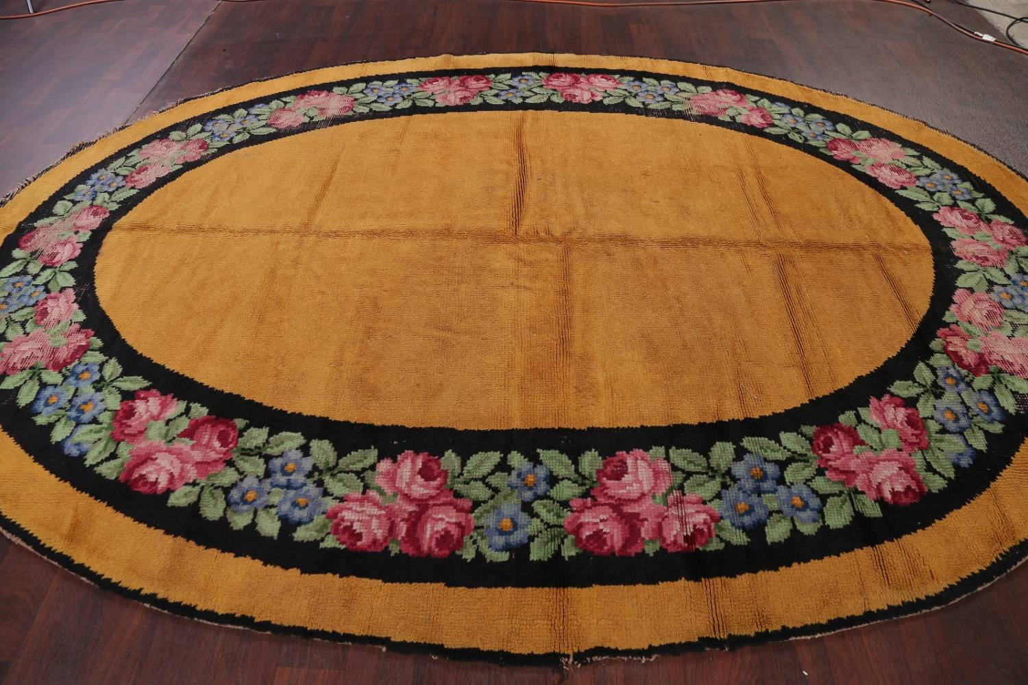 Floral 8x11 Gold Savonnerie French Art Deco Oriental Rug image 12