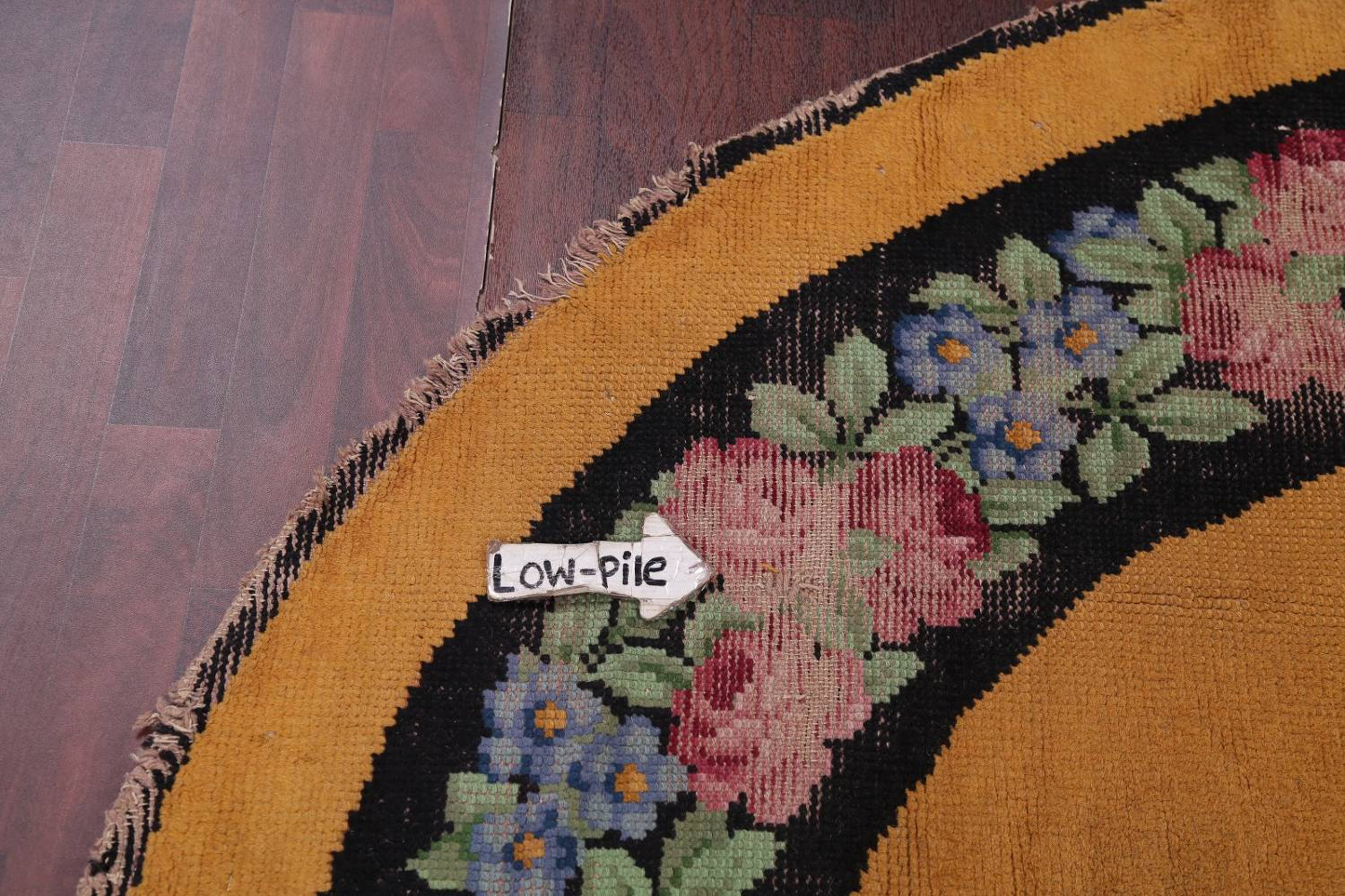 Floral 8x11 Gold Savonnerie French Art Deco Oriental Rug image 15
