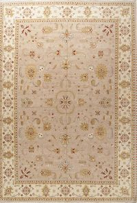 All-Over Floral Light Mauve Oushak Pakistan Oriental Area Rug