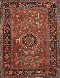 5x6 Antique Gharajeh Persian Area Rug