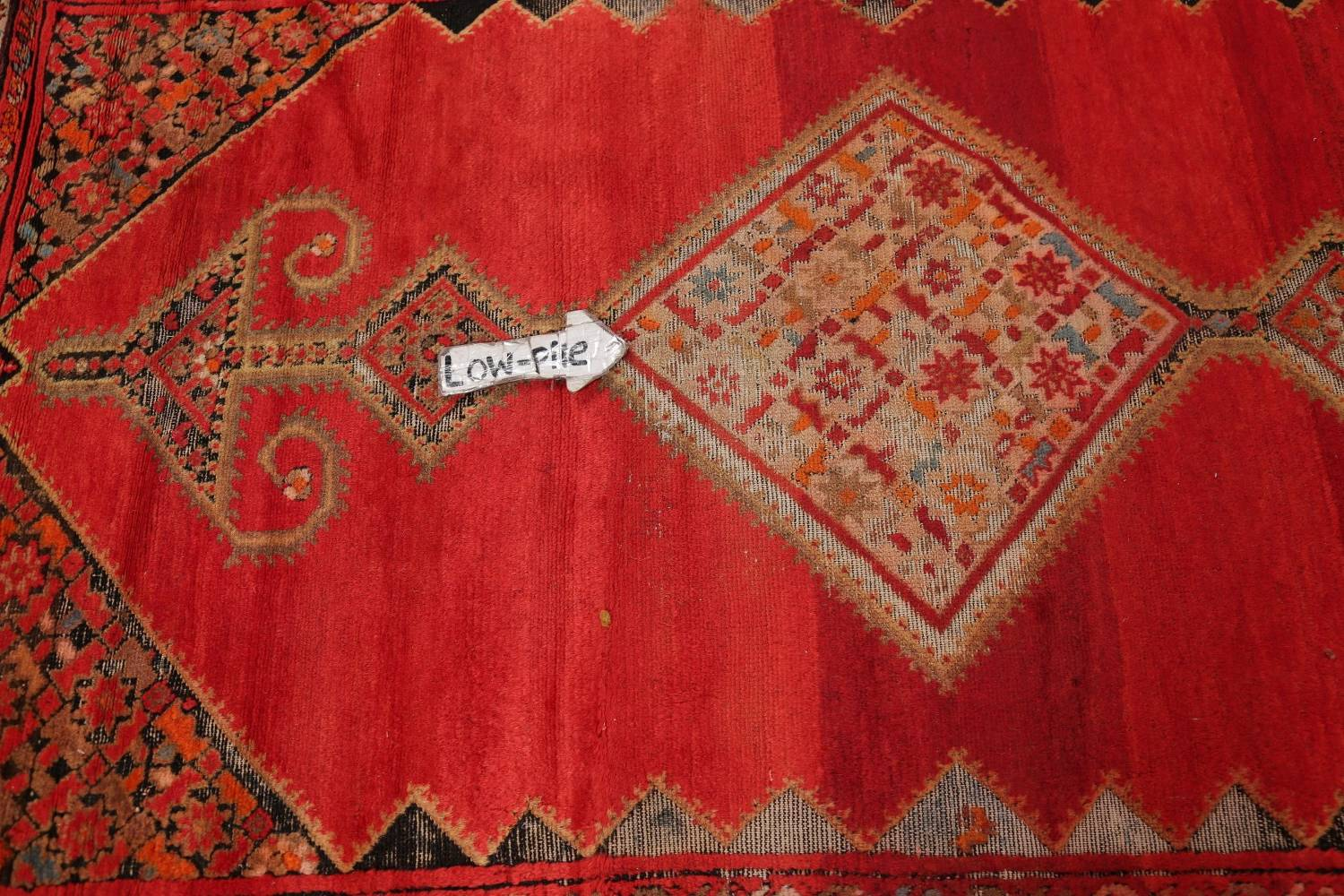 Pre-1900 Antique Bibikabad Persian Hand-Knotted 4x7 Wool Area Rug image 12