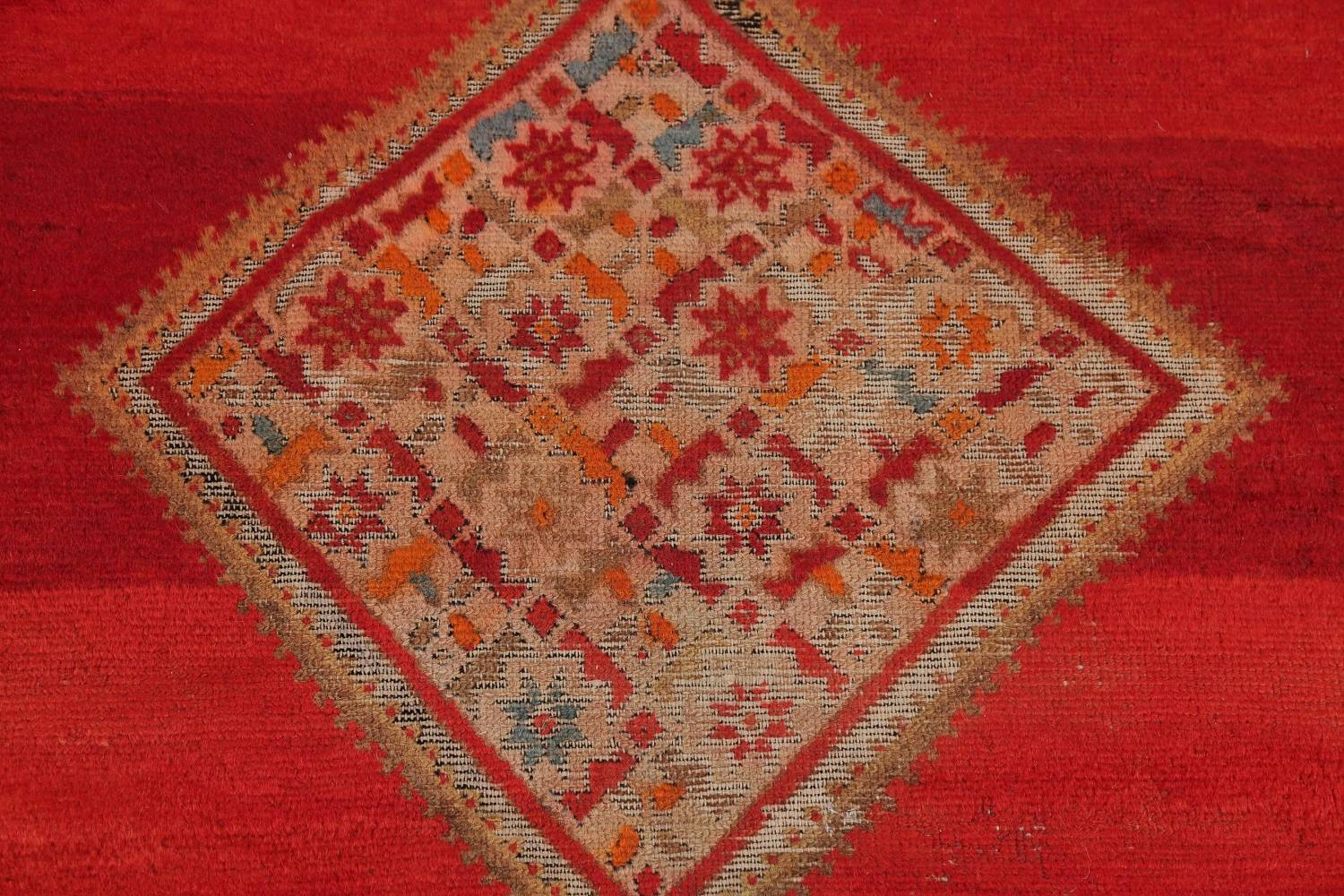 Pre-1900 Antique Bibikabad Persian Hand-Knotted 4x7 Wool Area Rug image 9