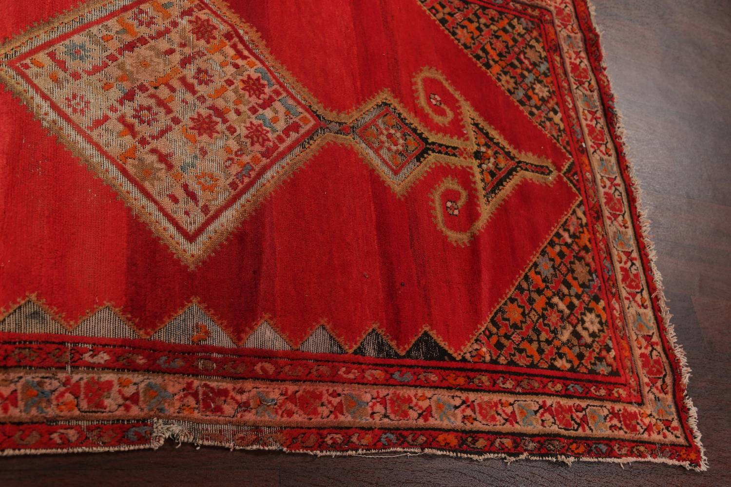 Pre-1900 Antique Bibikabad Persian Hand-Knotted 4x7 Wool Area Rug image 15