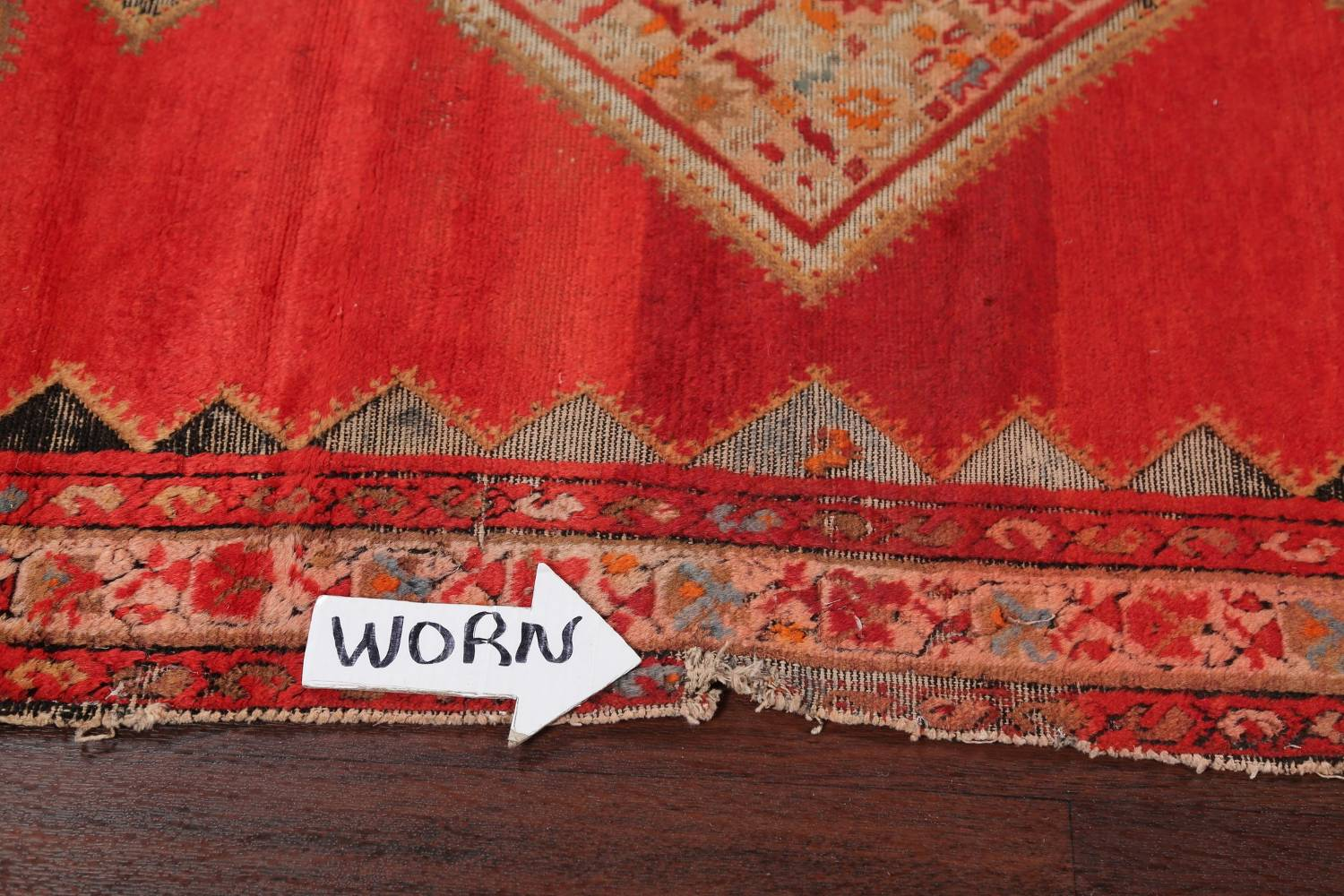 Pre-1900 Antique Bibikabad Persian Hand-Knotted 4x7 Wool Area Rug image 10