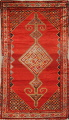 Pre-1900 Antique Bibikabad Persian Hand-Knotted 4x7 Wool Area Rug image 1