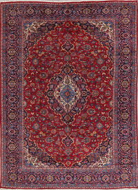 Traditional Floral Isfahan Persian Hand-Knotted 9x13 Wool Area Rug