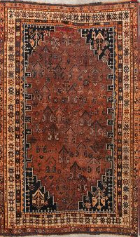 Geometric Tribal Shiraz Persian Area Rug 4x7