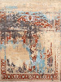 9x12 Heriz Indian Oriental Area Rug