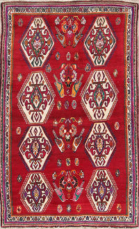 Geometric 5x8 Shiraz Persian Area Rug