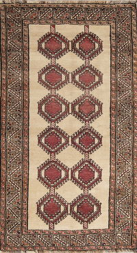 Geometric Gabbeh Shiraz Persian Hand-Knotted 4x7 Wool Area Rug