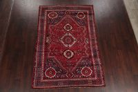 Antique Geometric Tribal Abadeh Shiraz Persian Hand-Knotted Area Rug 6x9