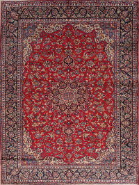 Floral Najafabad Isfahan Persian Hand-Knotted 10x13 Wool Area Rug