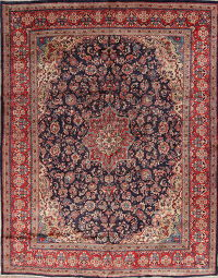 Traditional Floral Mahal Persian Hand-Knotted 10x13 Wool Area Rug