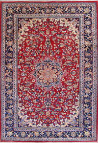 Traditional Najafabad Isfahan Persian Hand-Knotted 8x12 Area Rug