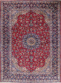Traditional Najafabad Isfahan Persian Hand-Knotted 10x13 Wool Area Rug