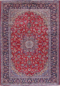 Traditional Najafabad Isfahan Persian Hand-Knotted 9x13 Wool Area Rug
