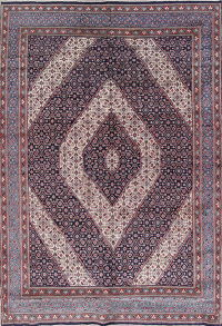 Geometric Mood Persian Hand-Knotted 9x13 Wool Area Rug