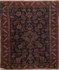 Antique 4x4 Heriz Serapi Persian Area Rug